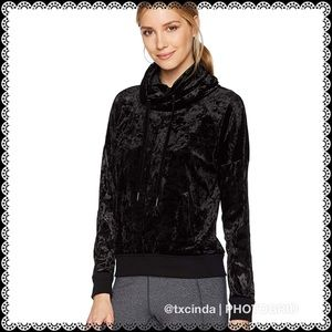 Betsy Johnson Crushed Velour Cowl Neck Pullover